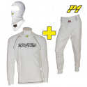 Tee-shirt + Pantalon + cagoule P1 CRC FIA - Blanc