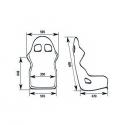 Baquet OMP TRS SKY - FIA