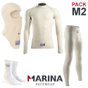 PACK Sous-V?tements Complet Marina FIA M2 - blanc