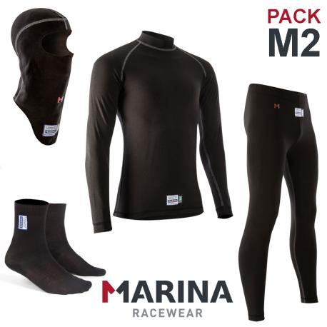 PACK Sous-V?tements Complet Marina FIA M2 - noir