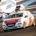 Kit Makrolon Peugeot 208 Cup - 3mm