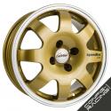 "Jante Speedline SL675 Renault Clio Groupe A 15"" - Or bord poli"