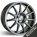 """Jante Speedline Turini Type 2120 Ford Mustang GT5 - Arrière 12x18"""" - Anthracite"""