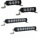 Pack 2 rampes de 4 Modules + 2 rampes de 8 modules LED RACING Pro SW