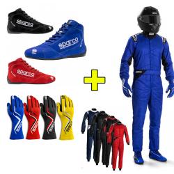 PACK Sparco FIA Combinaison + Bottines + Gants