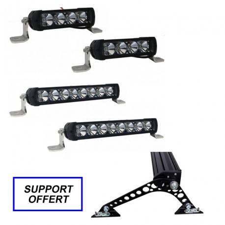 Pack 2 rampes de 4 + 2 rampes de 8 LED RACING + support offert