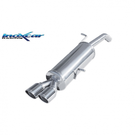 Silencieux Inox Inoxcar Citroen DS3 1.6 16v Turbo (155cv) - double sortie 80mm X-race