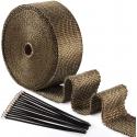 Ruban Isolant thermique CRC titanium + colliers - 50mm - 15m