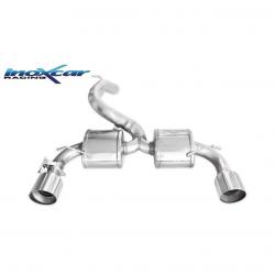 Silencieux à valve Inoxcar Ford Focus 3 RS - sortie droite et gauche Racing 114mm