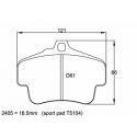 Plaquettes PAGID | Porsche 911 (996) GT2/GT3/Cup -02