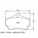 Plaquettes PAGID | Porsche 911 (997) 3.6 Carrera