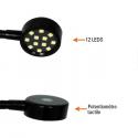 Lecteur de carte - à LEDS - avec potentiomètre tactile
