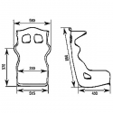 Baquet OMP FIA HTE-R