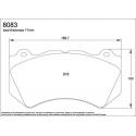 Plaquettes PAGID RSC1 Ferrari F430 (disques céramique)