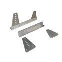 Fixations latérales universelles - Aluminium