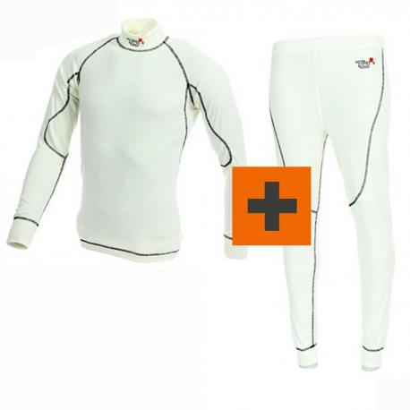 PACK Tee-shirt + Pantalon Turn One Pro FIA - Blanc