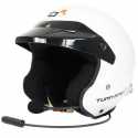 Casque Jet Turn One Jet-RS Intercom - FIA - HANS - Blanc