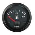 Jauge carburant VDO Vision Ø 52 | fond noir | Tubulaire
